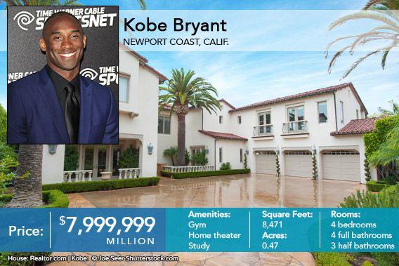 pictures of kobe bryant home newport beach